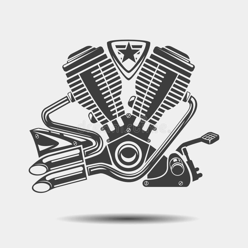 Car Engine Or Motorbike Motor Black Icon Stock Vector - Illustration ...