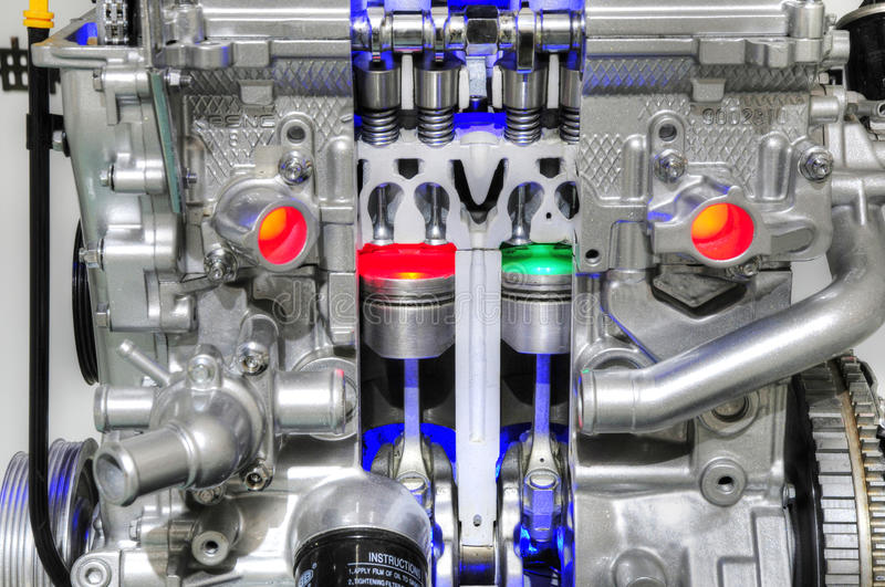 Download Car engine with piston stock photo. Image of engine, technology - 15289236