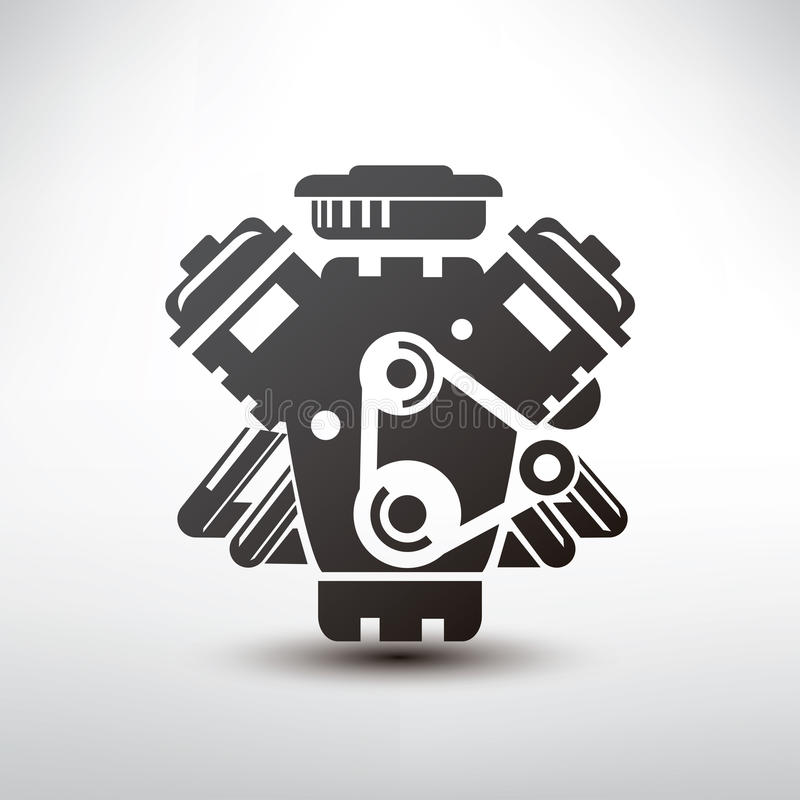 Car engine symbol stock vector. Illustration of concept - 53033337
