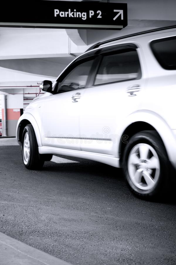Download Car enter the parking lot stock image. Image of auto, turn - 8031441