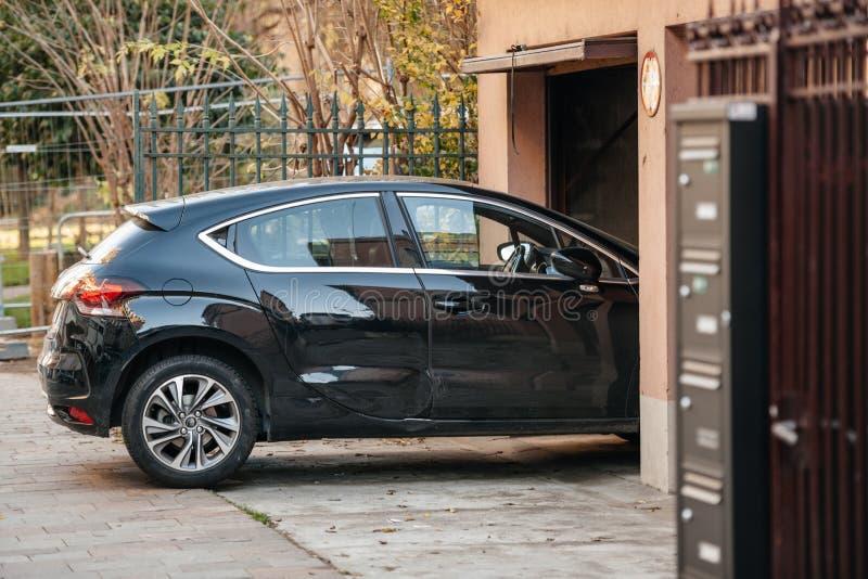 Download Car entering garage stock image. Image of burglary, peak - 71935237