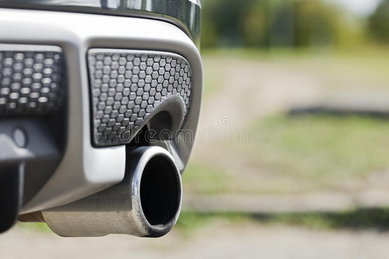 Car exhaust royalty free stock image