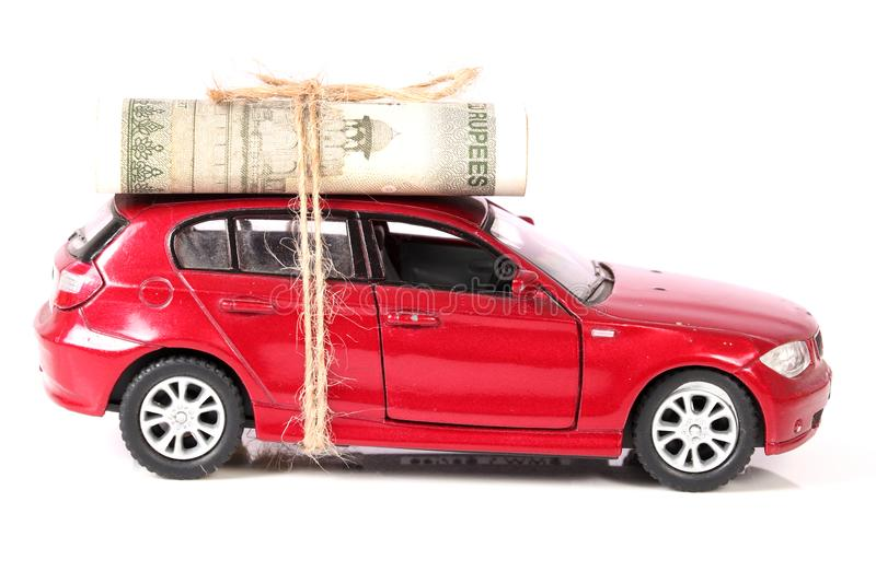 Car and expenses. Concept shot of car and expenses stock images