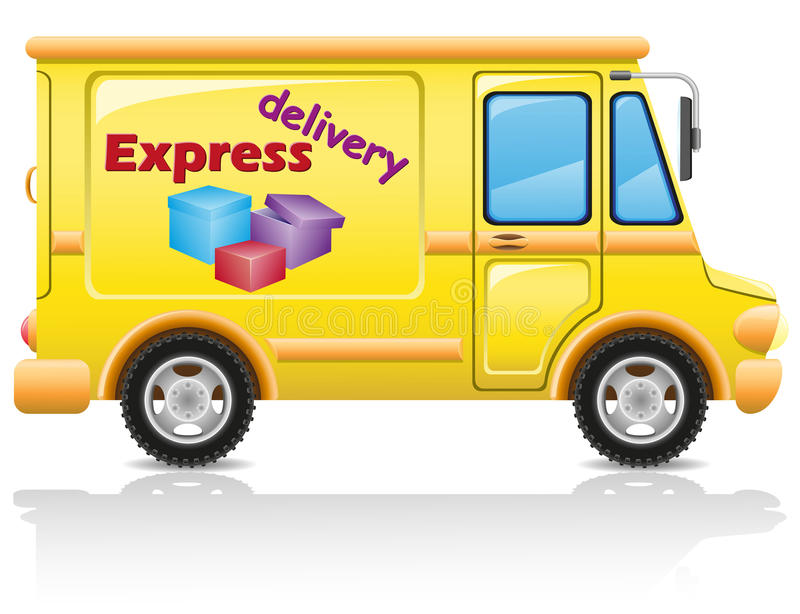 Car Express Delivery Of Mail And Parcels Stock Image
