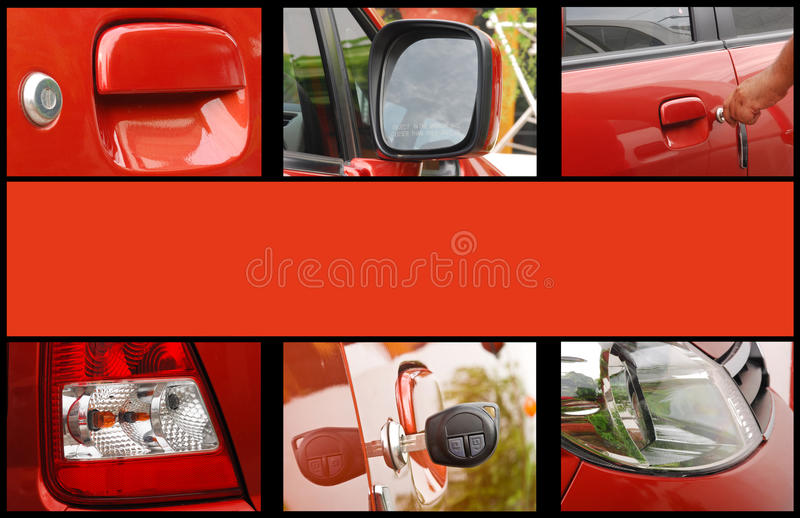 Download Car exterior collage stock photo. Image of light, handle - 16194086