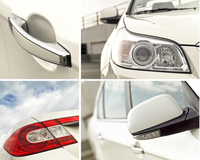 Download Car Exterior Details Collage Stock Photo - Image of layout, mirror: 11743914
