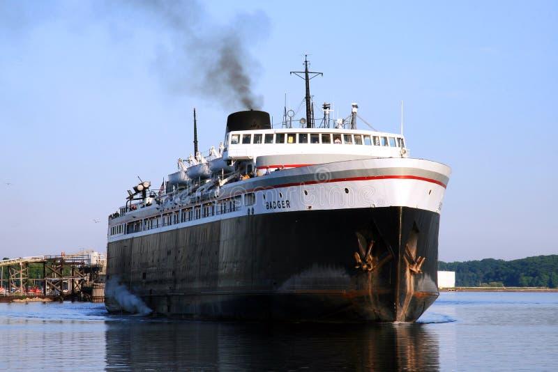Car-ferry de blaireau de solides solubles photos stock