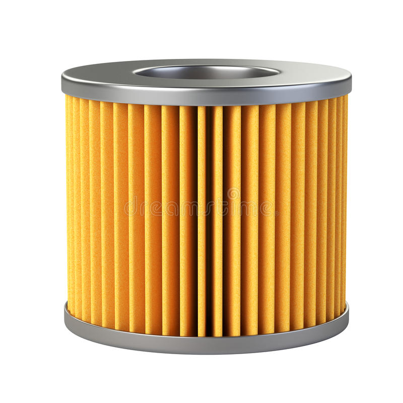 Car filter close-up 3d illustration. Car filter close-up isolated on a white background. 3d illustration high resolution royalty free illustration