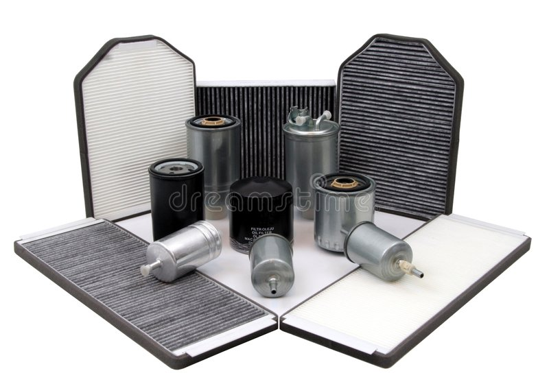 Car filters royalty free stock photography