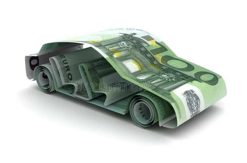 Car Finance With Euro vector illustration