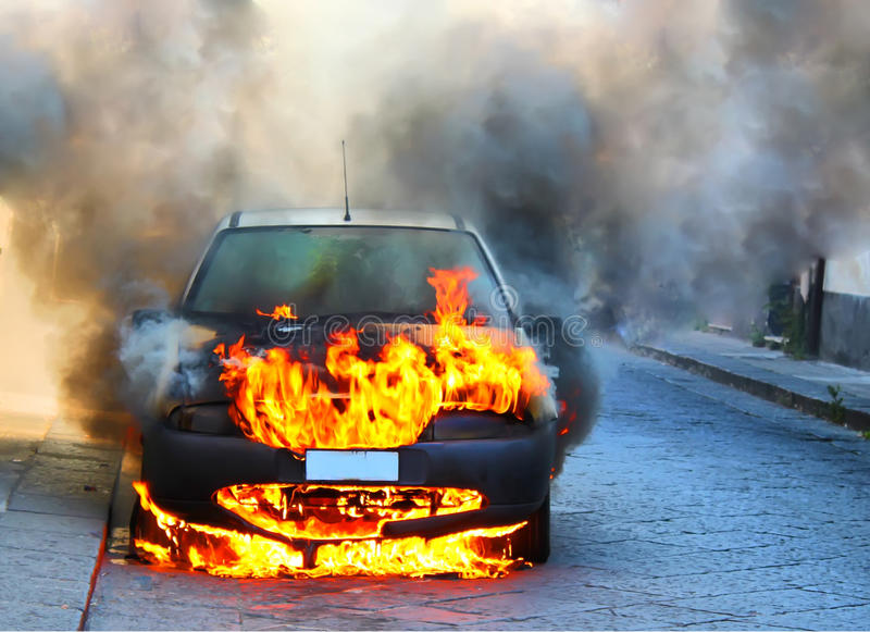 Download Car on fire stock image. Image of crime, accident, danger - 15697801