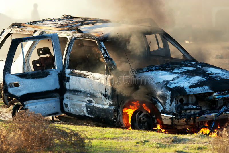 Download Car fire stock image. Image of bomb, exploding, destroyed - 24475545