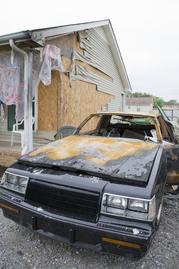Car Fire stock photos