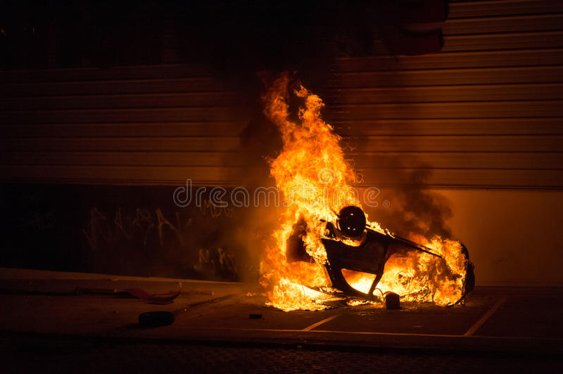 Download Car fire stock photo. Image of exploding, insurance, street - 32151924