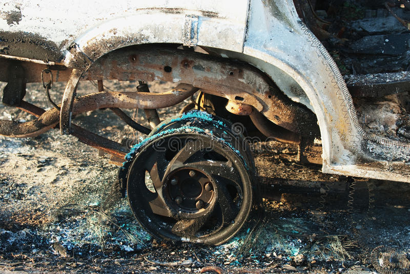 Download Car fire detail stock image. Image of melting, fire, horror - 16919103