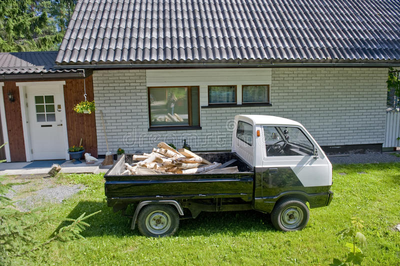 Download The car with fire wood stock photo. Image of housing - 20714844