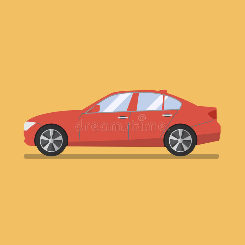 Car flat icon stock illustration