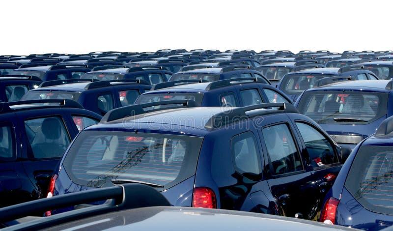 Car fleet stock image