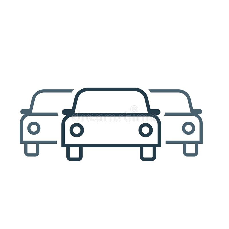 Car Fleet icon. Clipart image isolated on white background royalty free illustration
