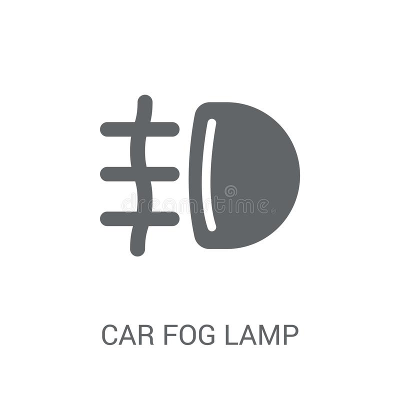 Car fog lamp icon. Trendy car fog lamp logo concept on white background from car parts collection. Suitable for use on web apps, mobile apps and print media stock illustration