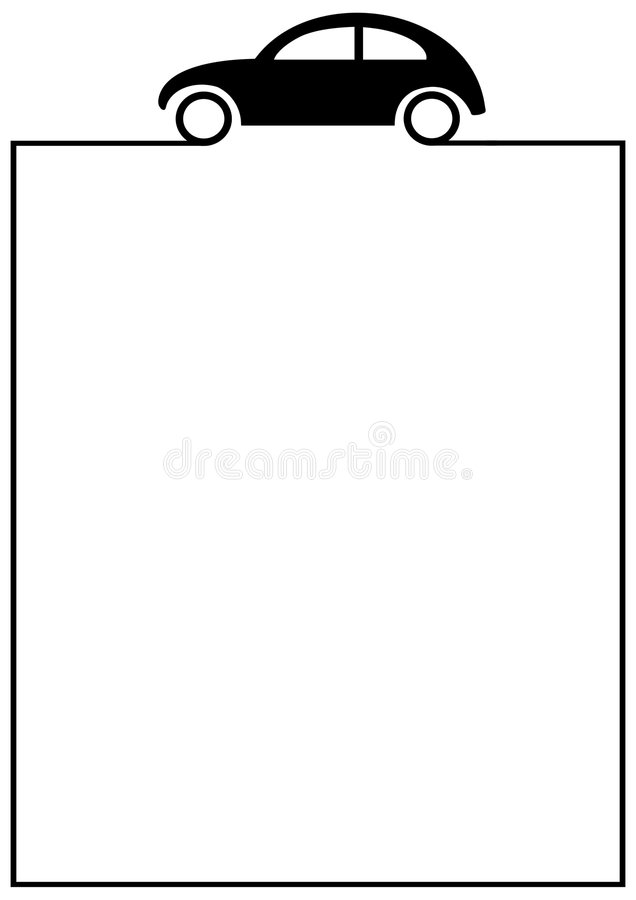 Download Car Form stock illustration. Image of borders, driving - 2083282