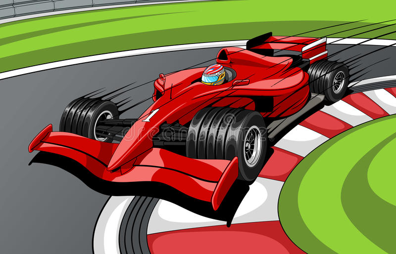 Download Car formula 1 stock vector. Image of passing, number - 11387810