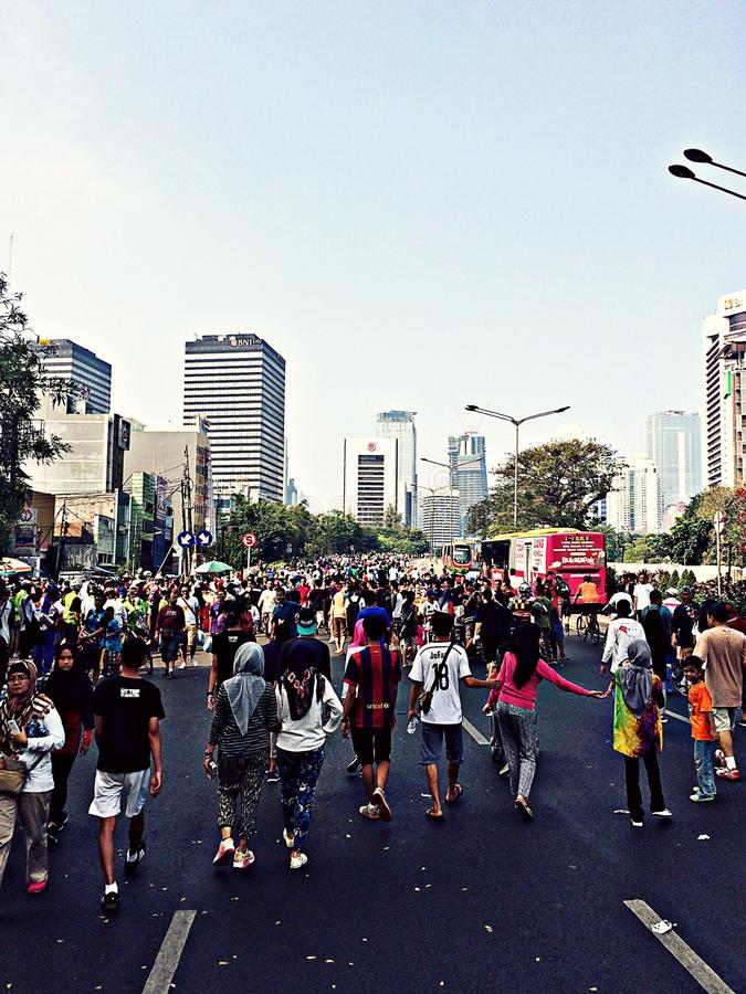 Car Free Day stock images