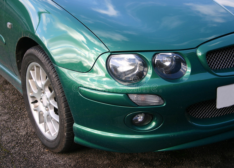 Download Car front stock photo. Image of sportscar, turn, green, headlight - 76822