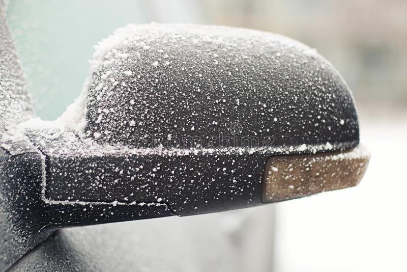 Car frost winter stock image