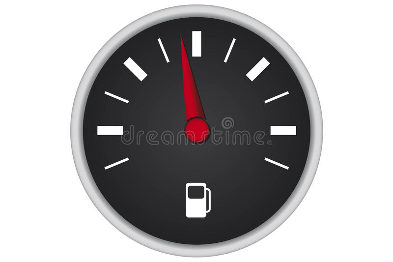 Download Car fuel panel stock illustration. Image of dashboard - 20929176