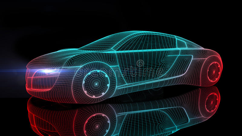 Car from the future stock illustration