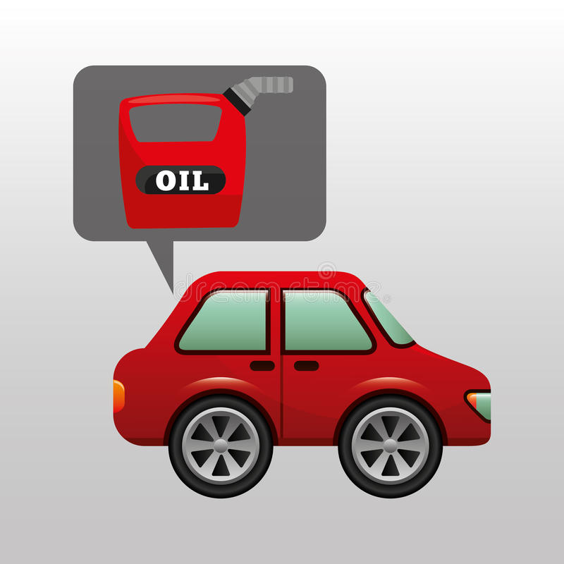 Car gallon oil red icon royalty free illustration