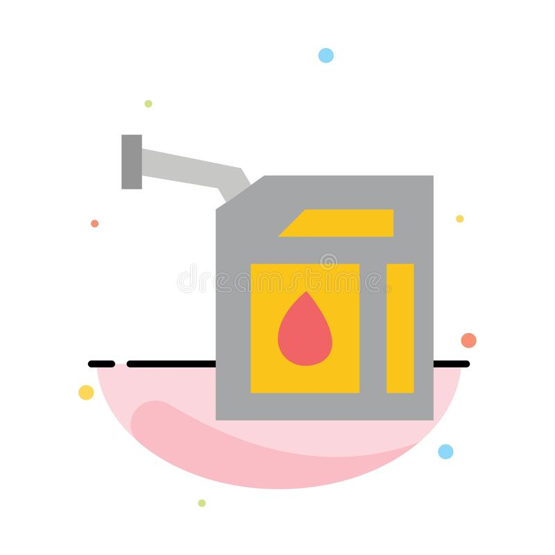Car, Gas, Petrol, Station Abstract Flat Color Icon Template vector illustration
