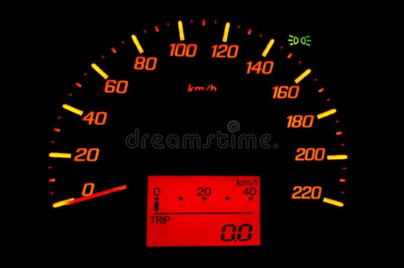 Car gauge speed stock photography