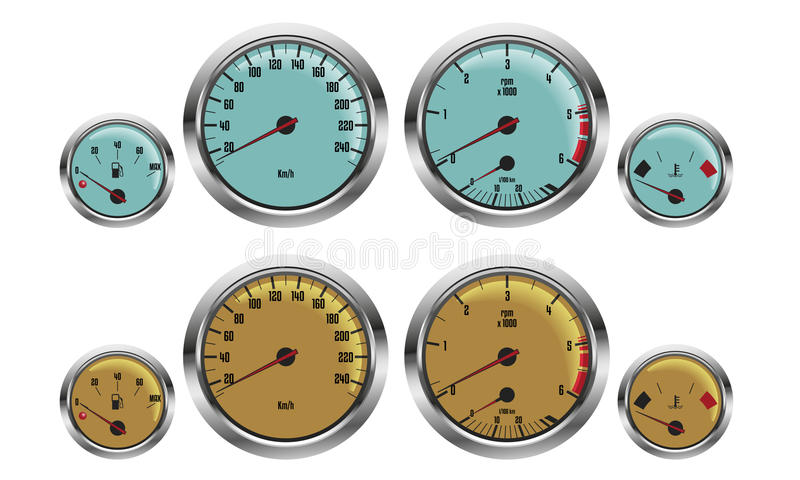 Car gauges royalty free illustration