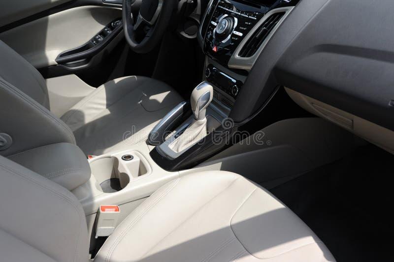 Car gear lever. A auto shift car gear lever stock photos