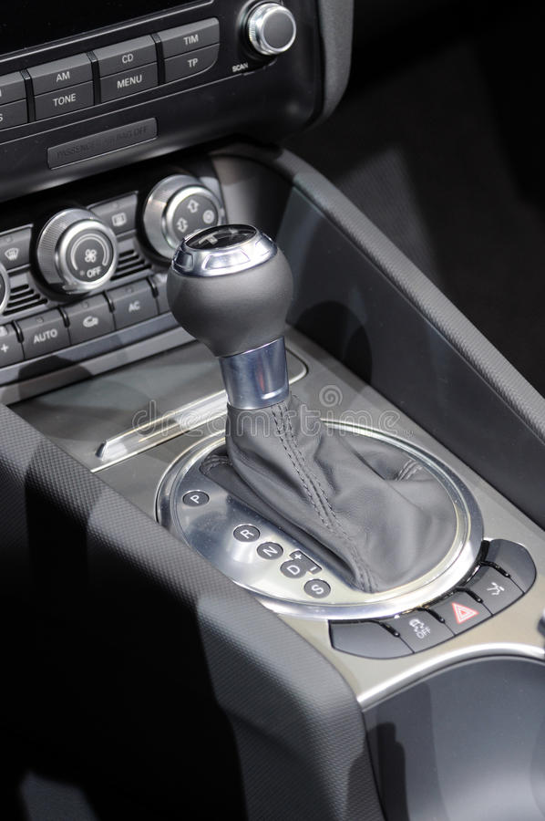 Download Car gear lever stock photo. Image of inside, engine, driving - 25887506