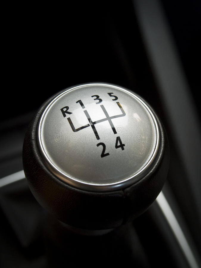 Car gear shift manual lever. Close up of a manual car gear shift. 6 speed manual stock images