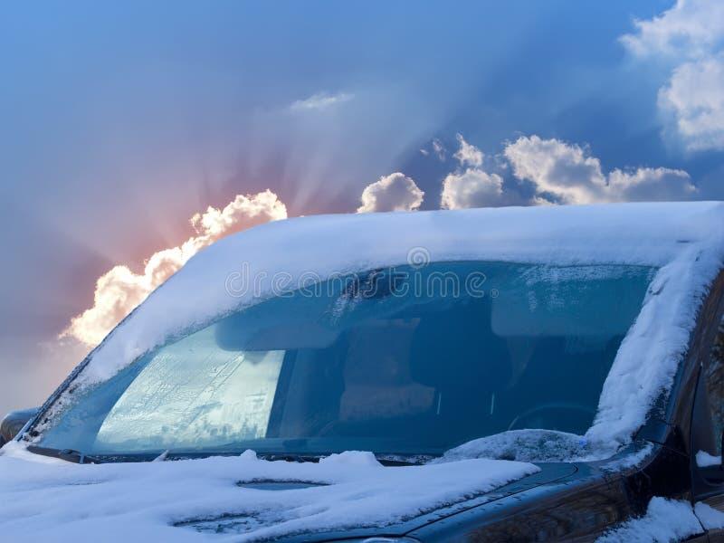 Car glass sky royalty free stock photo