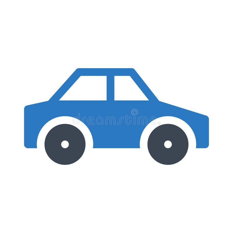Car glyph color flat vector icon stock illustration