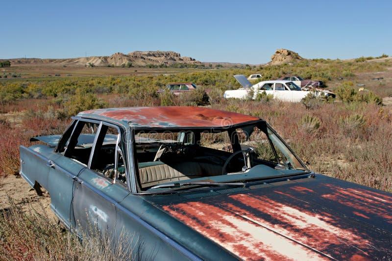 Car graveyard royalty free stock photo