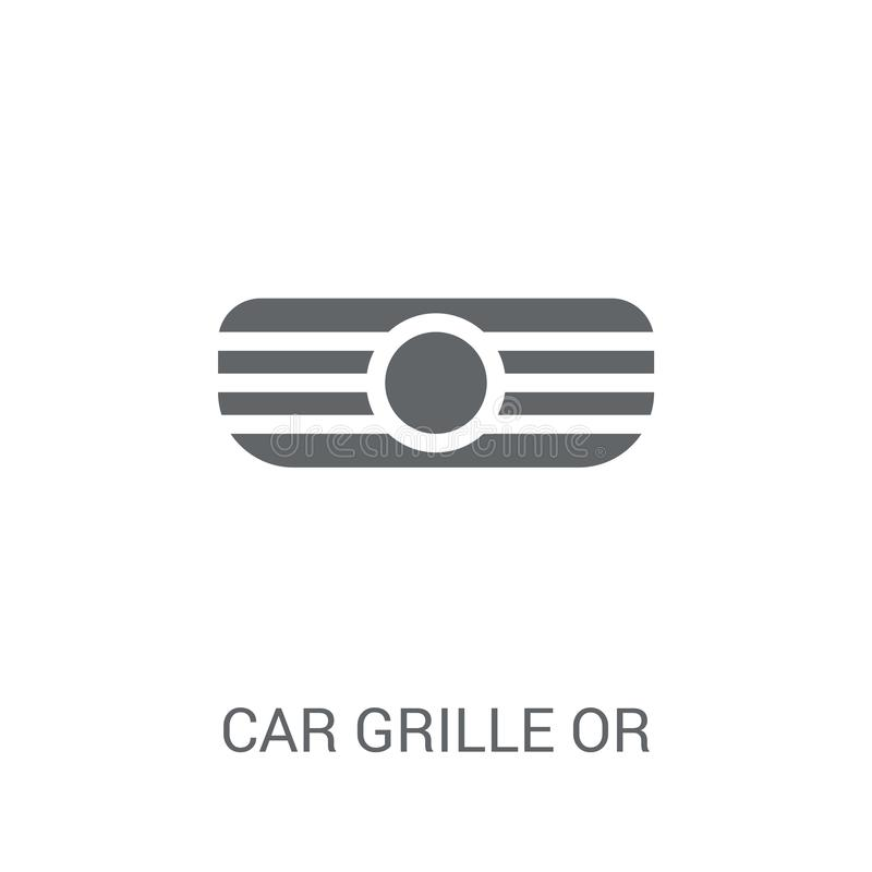 car grille or radiator grille icon. Trendy car grille or radiator grille logo concept on white background from car parts royalty free illustration