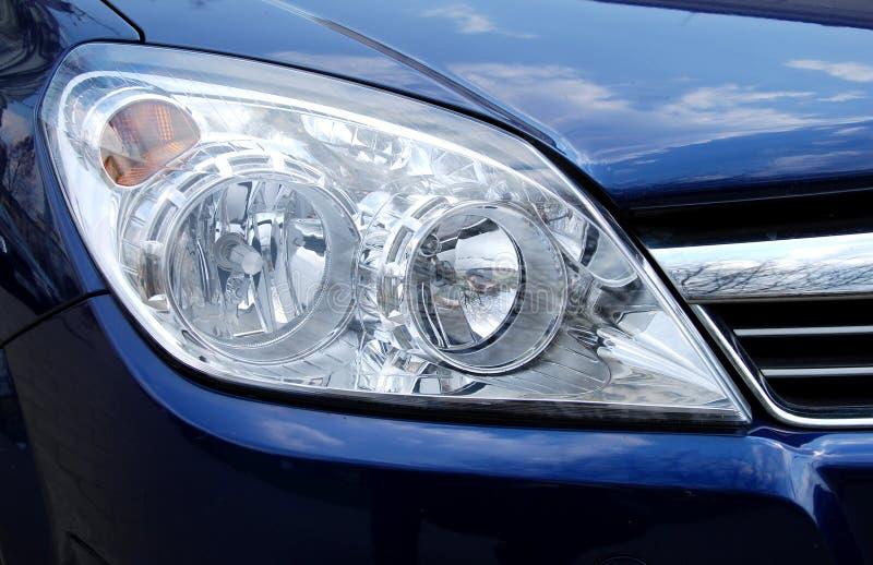 Car head lamp. Chrome head lamp of new car stock image