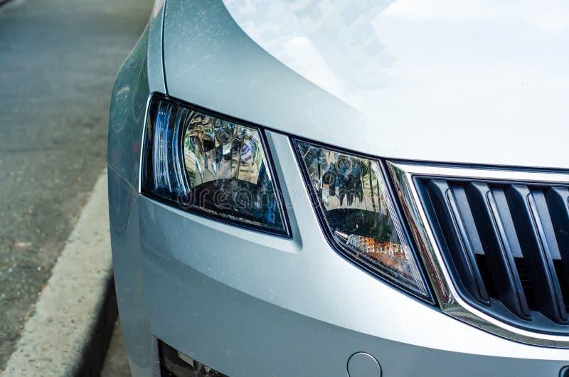 Car head light gray royalty free stock photography