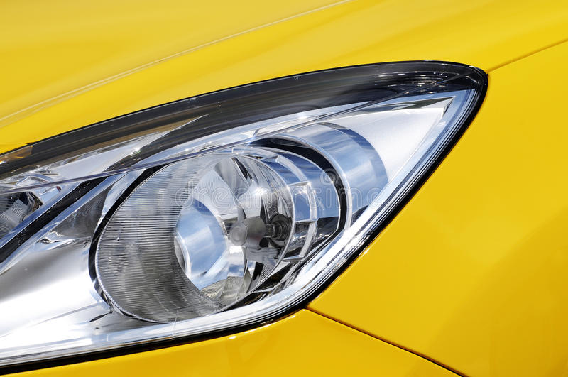 Download Car headlight stock photo. Image of light, bumper, yellow - 15013364