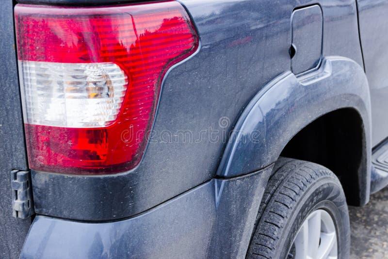 Car headlight, closeup royalty free stock images