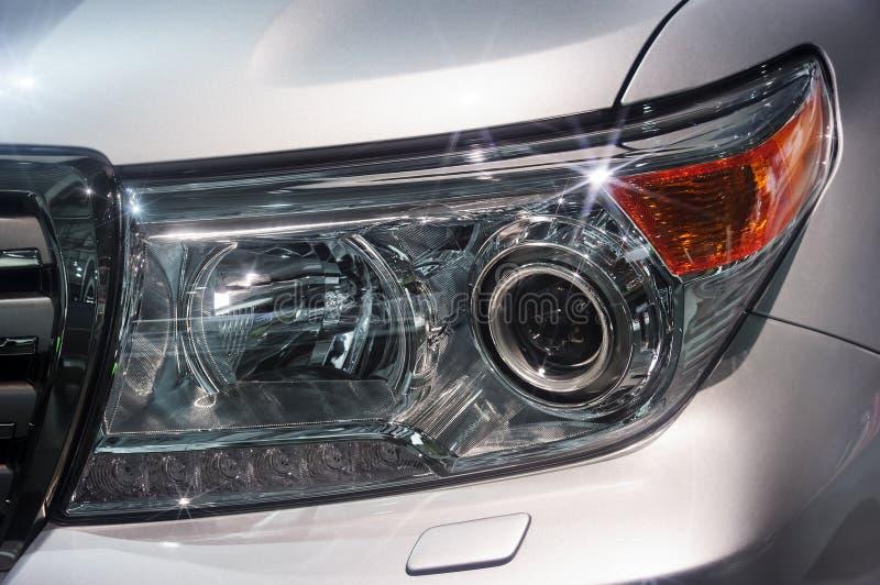 Car headlight detail stock photography