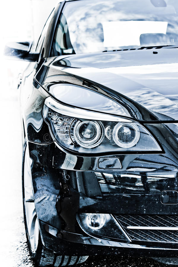 Download Car headlights stock image. Image of xenon, grill, lamps - 13496297
