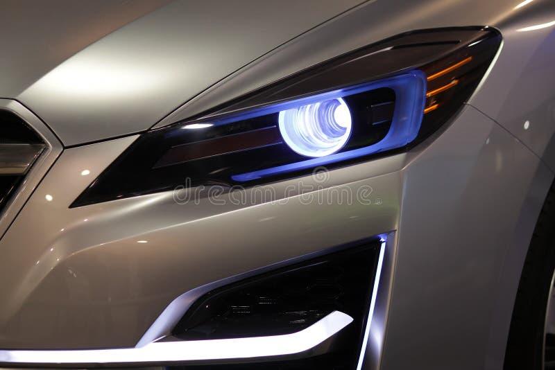 Car Headlights stock photo