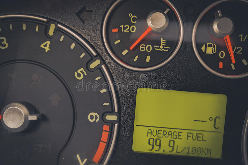 Car high fuel consumption royalty free stock photography